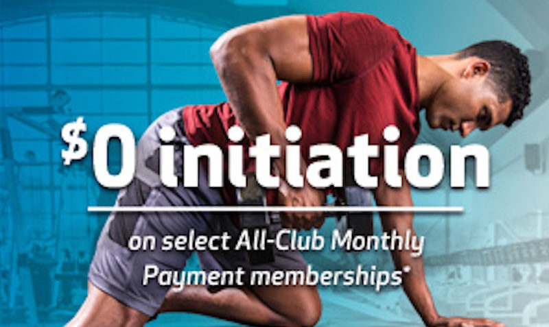 24 Hour Fitness - $0 Initiation on select All-Club Memberships
