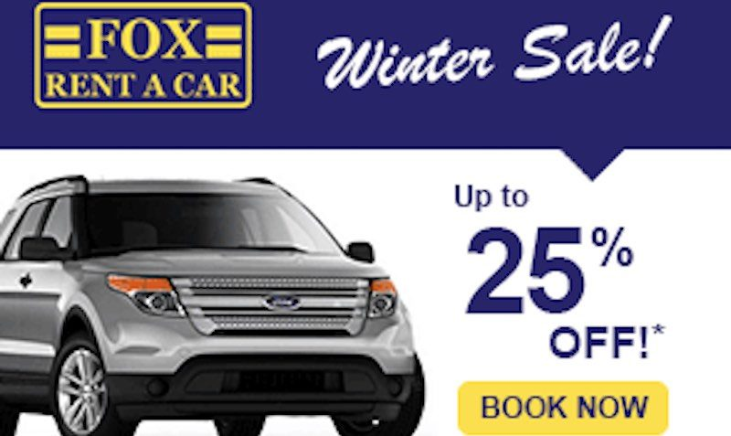 Fox rent a car discount coupon
