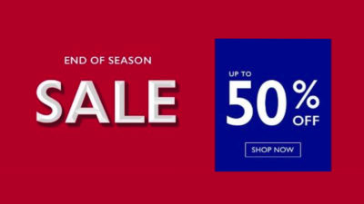 50% Off End of Season SALE at Moss Bros