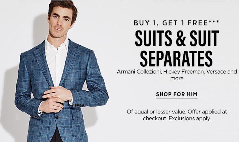 BOGO FREE SUITS & SUIT SEPARATES at Saks Fifth Avenue OFF5th