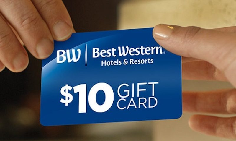 $10 GIFT CARD with Every Stay at Best Western Hotels