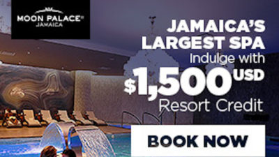 Get up to $1,500 Resort Credit at Moon Palace Jamaica.