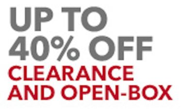 Upto 40% Off CLEARANCE at Best Buy
