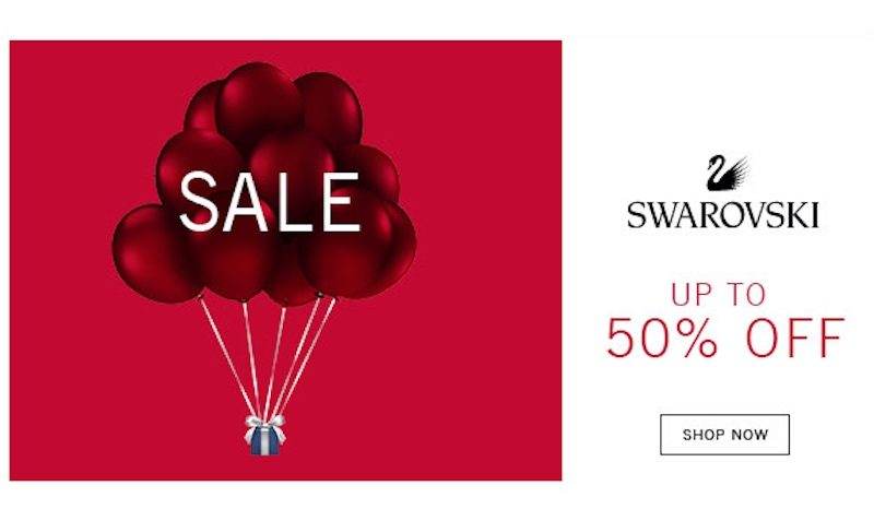 Upto 50% Off Winter SALE at Swarovski