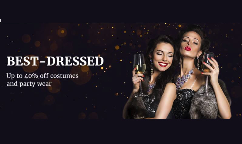Upto 40% Off Costumes and Party wear at AliExpress