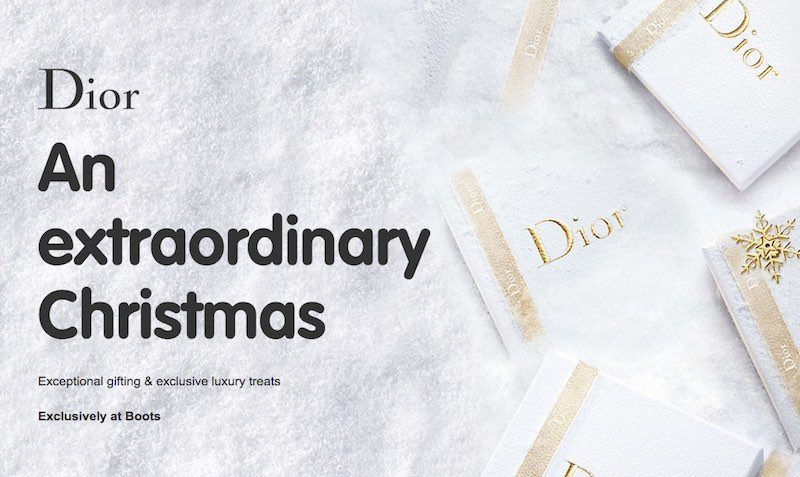 Dior Extraordinary Christmas Holiday Season at Boots