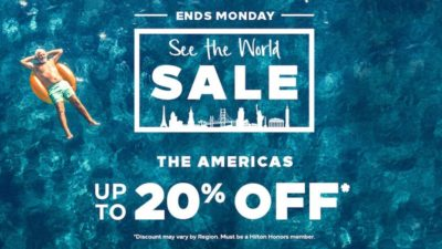 See the World Sale! Up to 20% OFF* through 3/19/18. Book Now!