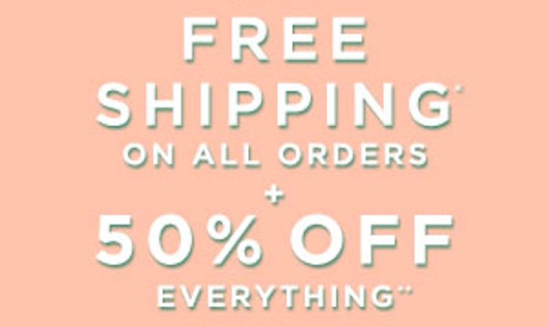 50% Off Everything PLUS FREE Shipping Coupon at LOFT