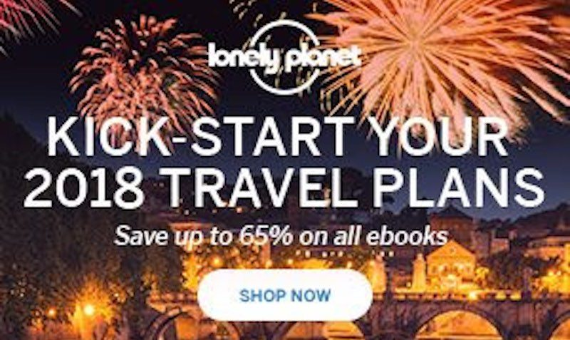 65% Off Discount Coupon at Lonely Planet