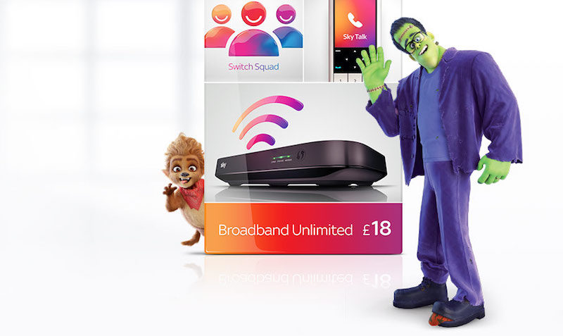 £18 Sky Broadband Unlimited, Talk and Line Rental DEAL at SKY Mobile