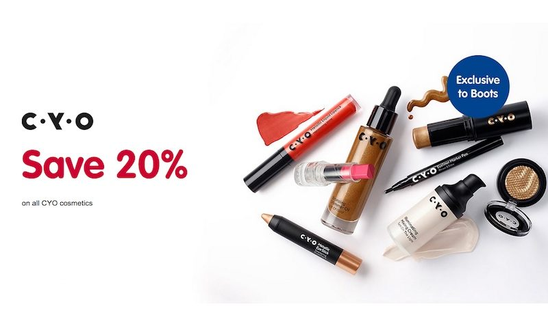 20% Off SALE on CYO Cosmetics at Boots