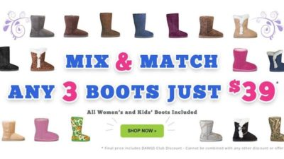 3 Boots for $39 DEAL at Dawgs