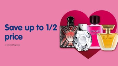 50% Off Valentines Day SALE on Selected Fragrance at Boots