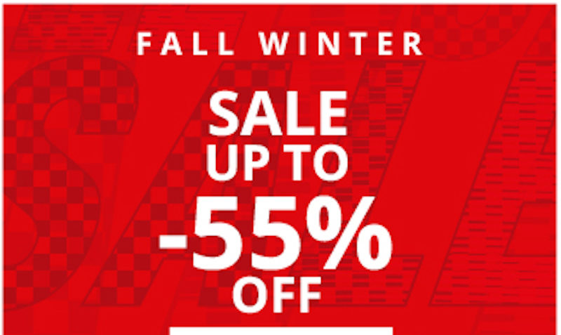 55% off sale at ferrari store