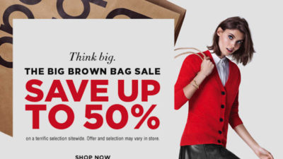 Big Brown Bag Sale