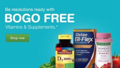 Buy 1 Get 1 FREE on Vitamins & Supplements at Walgreens