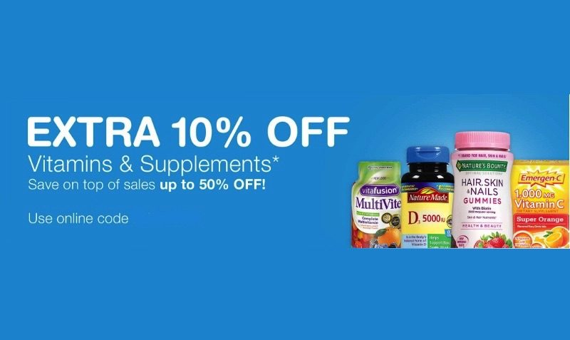 Discount supplements coupon