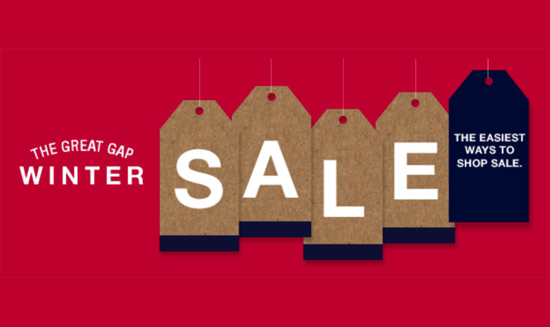 Great Big Winter SALE at Gap