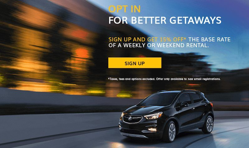 Save 15% off of the base rate of your next weekend car rental at Hertz.com!