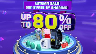 Tomtop Up to 80% OFF for Autumn Special Offer