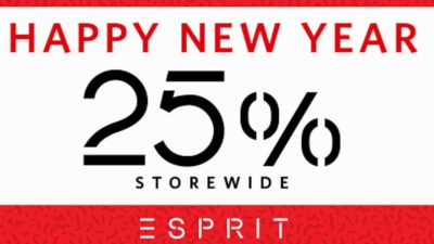 Upto 25% Off Happy Chinese New Year SALE at Esprit Asia Pacific