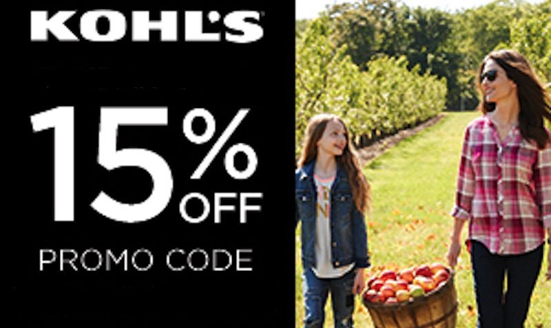 15% Off Promo Code at Kohl's