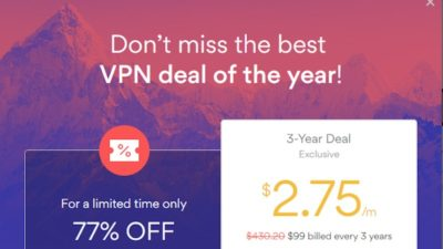 $2.75 Per Month 3-Year DEAL at NordVPN