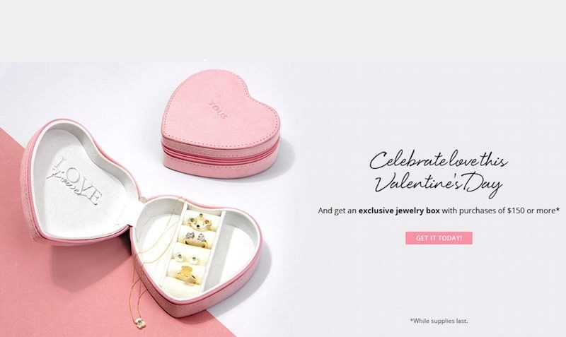 FREE Exclusive Jewelry Boxes with Purchases at TOUS USA EDEALO