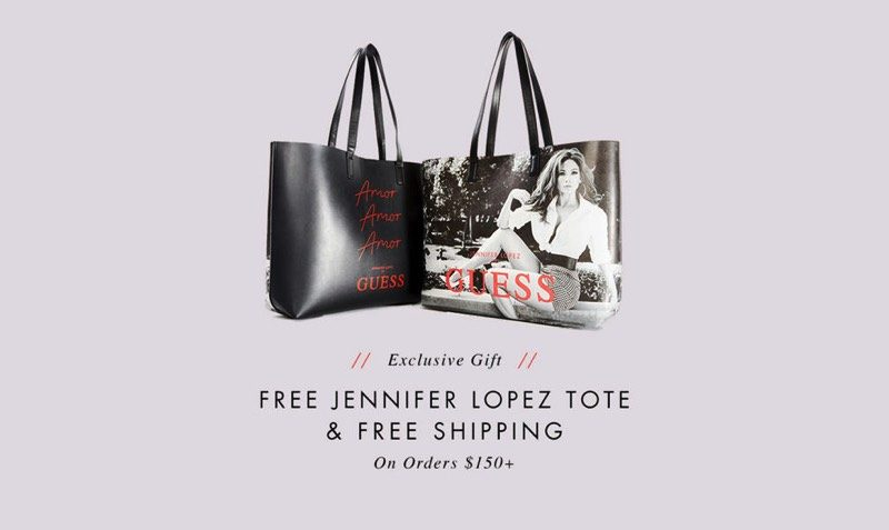 FREE Jennifer Lopez Tote Bag with Purchases at GUESS.com