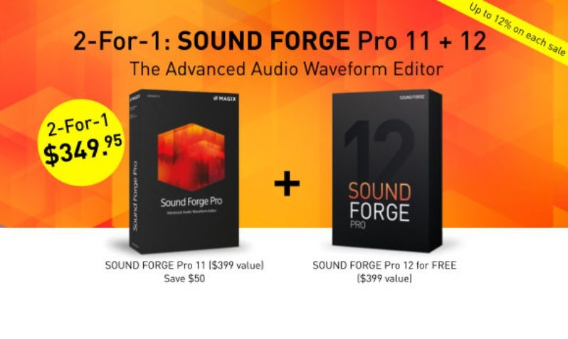 SOUND FORGE Pro 11 12