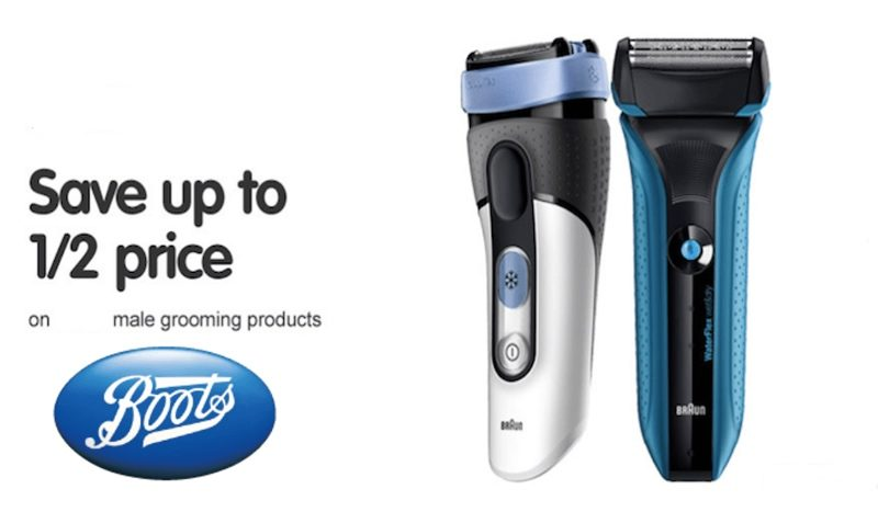 50% Off SALE on Selected Male Grooming at Boots