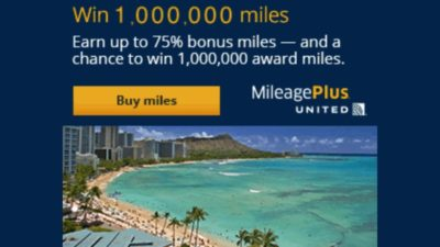bonus miles united sweepstakes