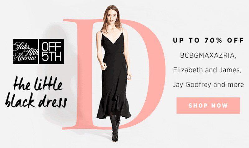 70% Little Black Dress SALE at Saks Fifth Avenue OFF5th | EDEALO