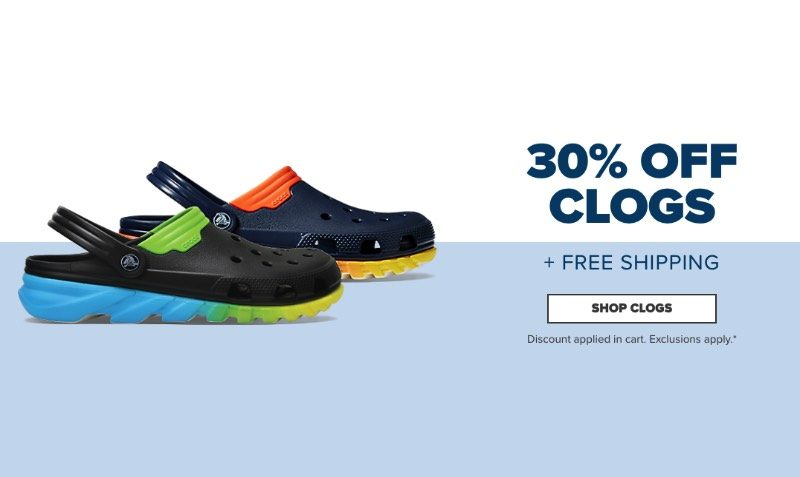 30% Off Clogs Discount SALE at Crocs