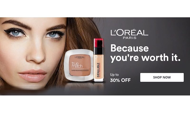 30% Off SALE L'Oreal products at Souq.com UAE