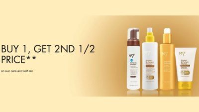 Buy One Get One 50% Off on No7 at Boots