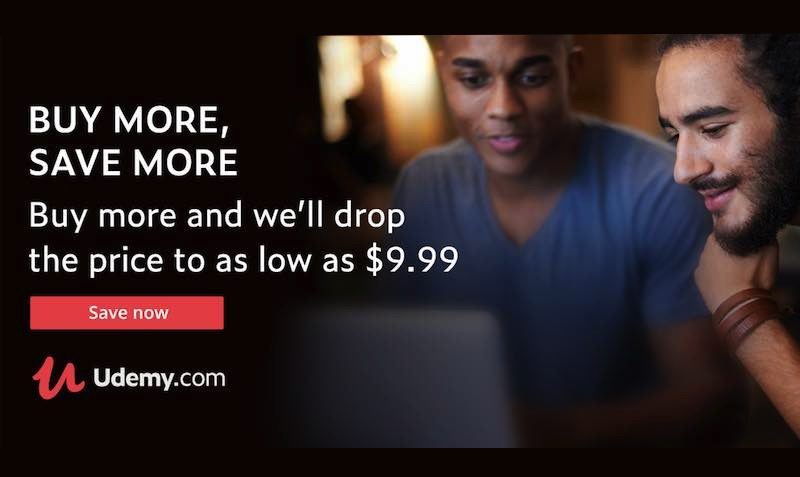 Buy More, Save More SALE at Udemy