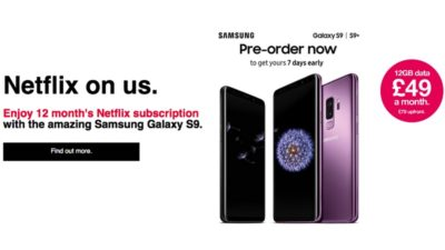Three are currently offering a 12 months Netflix subscriptions when you buy a Samsung phone