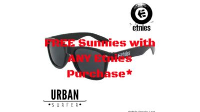 FREE Etnies Sunglasses with Purchases at Urban Surfer