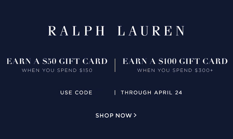 Giftcard Coupon at Ralph Lauren