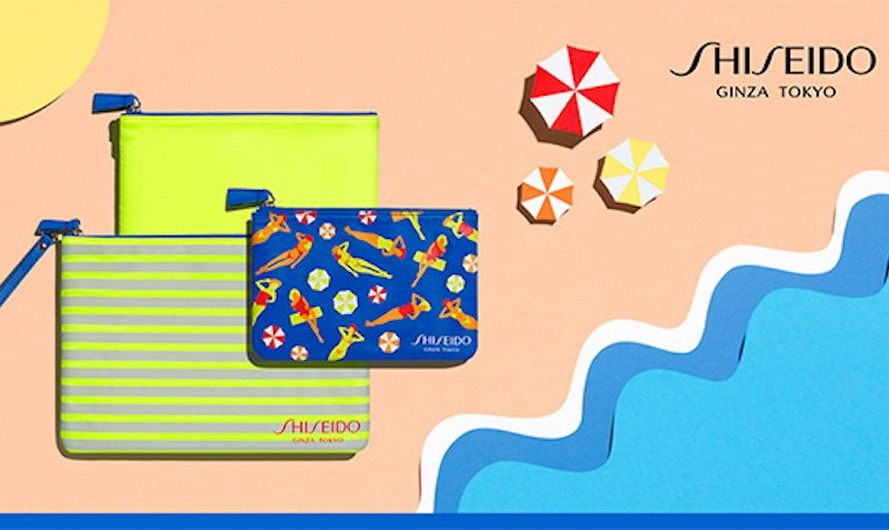 shiseido summer essentials- 3 FREE pouches with $50 sun purchase