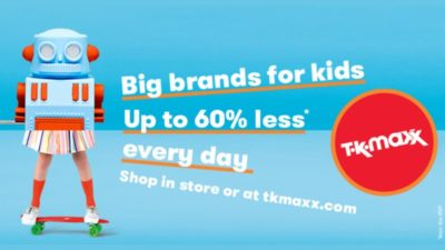 Always up to 60% less than RRP- KIT OUT YOUR KIDS WITH THE BEST BRANDS FOR LESS.
