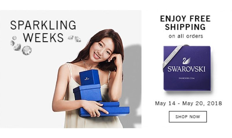 From May 14th to the 20th, 2018 all Swarovski orders are free of shipping costs!
