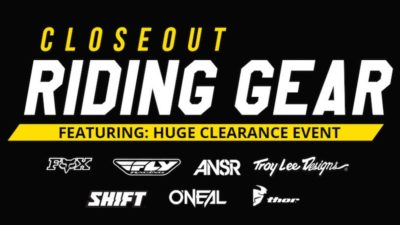 Huge Clearance Event at Chaparral! Closeout & Discounted Motorcycle Gear, Parts & Accessories!