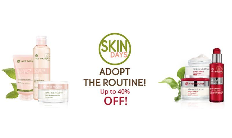 40% OFF SALE at Yves Rocher USA and Canada
