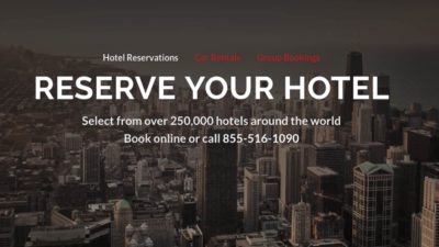 DISCOUNT SALE at Reservations.com