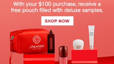 Red Pouch Promo Starting September 8th Until September 16th! 5 Bonus Products with a Purchase of $100 ($51 value)