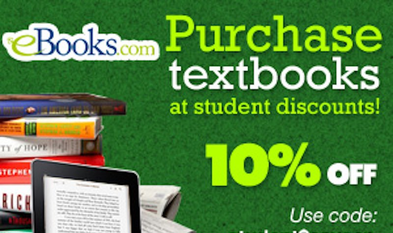 10% Off Back to School Discount Coupon at eBooks.com
