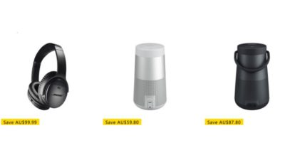 20% off Select Bose Audio SALE at Microsoft Store Australia