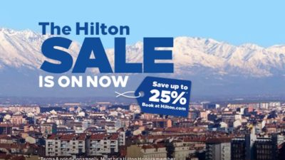 25% Winter SALE at Hilton Hotels Europe, Middle East and Africa